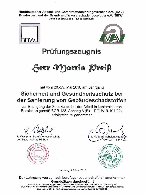 schadstoffsanierung - mapri abbruch entkernung sanierung zertifikat 1
