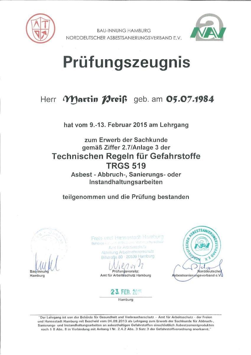 schadstoffsanierung - mapri abbruch entkernung sanierung zertifikat 2