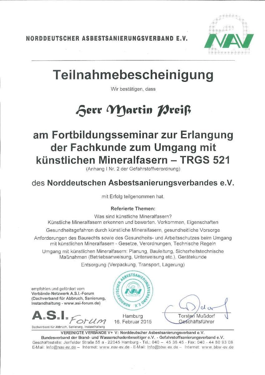 schadstoffsanierung - mapri abbruch entkernung sanierung zertifikat 3